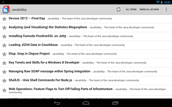 Reader on Nexus 7